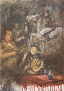 Boemska Rapsodija, akril, 50x35