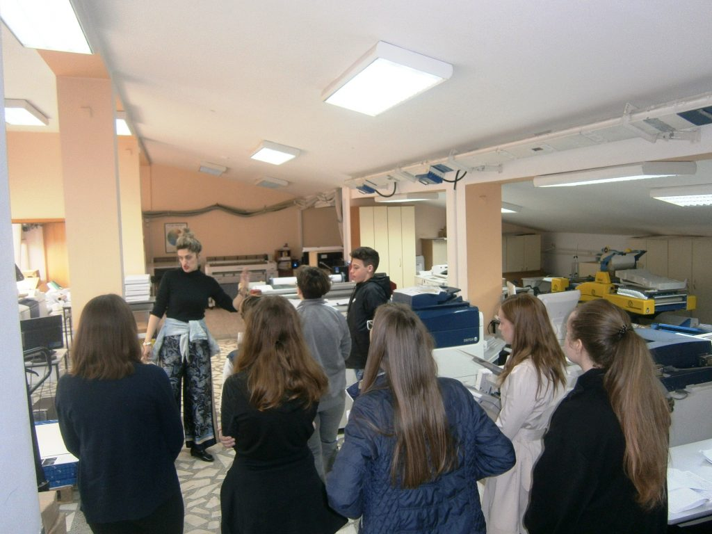 Poseta FTN-u u Novom Sadu, štamparija