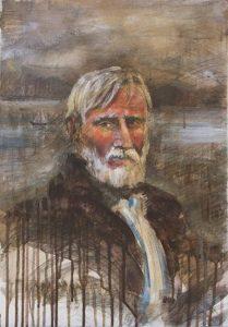 Stari mornar, akril, 50x35